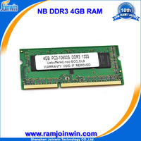 Malaysia import products 256mb*8 laptop ram 4gb ddr3