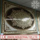 amazing decorative pattern 1200*1800mm good quality glazed ceramic carpet tile flower ceramic carpet tile