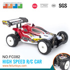 2.4G 4CH 1:10 scale high speed digital proportional aluminum rc car chassis