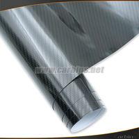 High glossy shining 5d carbon fiber car wrap vinyl film air bubble free quality , 1.52*20m