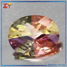 shining stone for jewelry,multicolor gemstone,oval cut zircon stone
