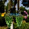 Vintage shape fluted glass vase