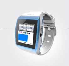 White Classical Wrist Smart Watch Cell Phone With Pedometer and Sleeping Monitor