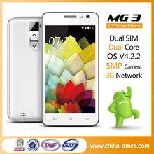 Hongkong Fair Factory Supplier Touch Screen 5 inch MTK6572 Dual Core 3G Android Dual Sim Mobile Phone