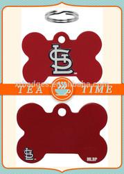 MLB St. Louis Cardinals Bone Engravable Pet ID Tag