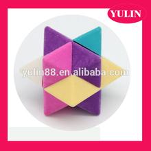 ER24 Eraser supplier Custom shape eraser, colorful Rubik's Cube