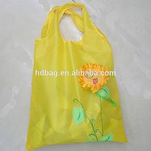 eco friendly waterproof custom promotional plastic flower shape foldable gift shopping bag