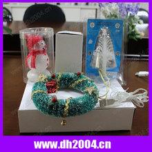 USB Mini color change wreath-led christmas light,hang on christmas tree