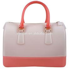 Designer clear handbag organizer shiny pvc tote bag