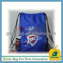 Cheap custom two tone sport drawstring bag,MJB-O213,China manufacturer