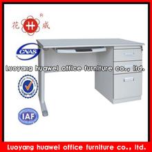 Modern design steel grey cheap computer desks