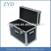 Aluminum transport box hard flight case with 3 handles butterfly lock, ZYD-FL230