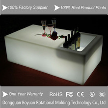 2014 hot sale modern bar table garden outdoor furniture LED table with ice bucket