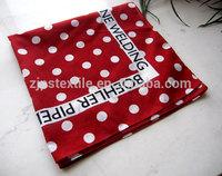 Fashion custom design pocket square cotton material silk feel