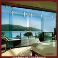 Foshan usine pliage sans cadre / coulissante balcon porte coulissante en verre