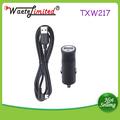 Popular no reino unido 5v 1.2a baterry carregador de carro com led indicador
