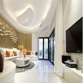 Blanc pur cristal pierre en verre peintre. intérieur de la maison