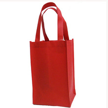 high quality leather wine bag carrier foldable shopping bag