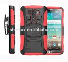 Hard back silicon Rubberized hybrid Case cover for LG G3 telefon