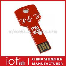 Bulk 4GB USB Flash Drives Key Style/Shape USB Stick