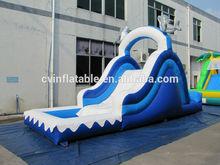 Mini dolphin inflatable single slide