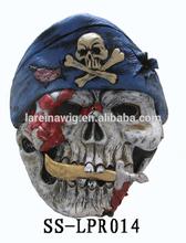 Factory cheap price EVA latex skull head horror ghost skull face mask sale(SS-LPR014)