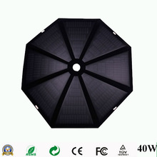 40W outdoor umbrella folding solar panel for laptop/car battery/tablet pc/mobile phone