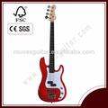 High quality korea guitars,red 4 strings electric bass guitar