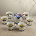 Vuelta de la boda ideas de nivel superior tetera y la taza dos-en-uno para el té de porcelana fina conjunto único chino olla grande regalos con mejor grado