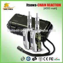 Alibaba China Supplier 4000mah Itsuwa Chain reaction 50 watt from American engineers big battery mod e cigarette