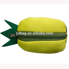 newest custom waterproof reusable fruit shape folding eco nylon zipper shopping bag