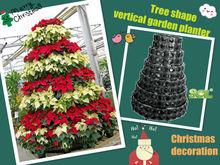 Christmas tree, vertical garden flower tower planter