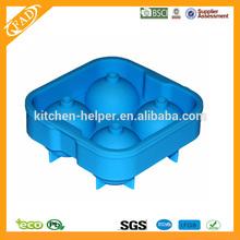 2014 los más populares whisky esfera de hielo moldes, Bola de hielo del silicón del molde, Reutilizable escultura de hielo moldes