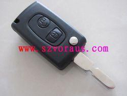 High quality Peugoet 2 button flip key shell , Peugeot remote key shell ,Auto key shell