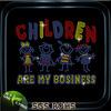Kindergarten children are my businees bling wild christmas rhinestones transfer
