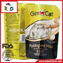 Custom plastic pet food bag stand up bag