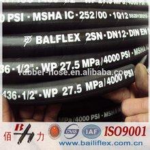 balflex hydraulic rubber hose pipe OEM manufacture in China