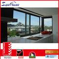 Aluiminium vidrio de ventana corredera de vidrio esmerilado térmica resistente con australia as2047, como/nz2208,1288 certificado