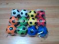 Caliente venta 6.3 cmfull impresión de la tensión del balón de fútbol / 360 degree impresión a todo bola de la tensión / customed impreso barato de la PU de la tensión del juguete