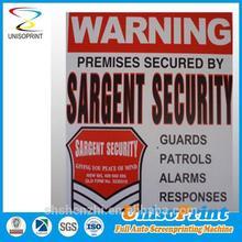 Resistente al agua para imprimir gratis señales de seguridad en cualquier color