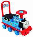 توماس والأصدقاء طفل ووكر على ركوب القطار الأزرق هدية الاطفال سيارة خزان المحرك