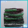 pulsera verde ágata europeo y americano de moda de la joyería