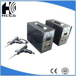 35KHz handheld plastic solder processing ultrasonic welding machine HDPE welding