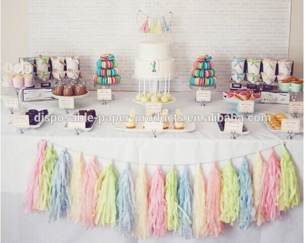 Pink Mint Tassel Garland Kit Party Idea Pastel Dessert