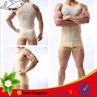 Breathable sleeveless undershirts custom tank top sheer sexy bodybuilding wear