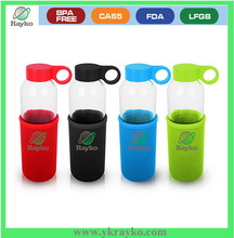 High quality health care glass water bottle