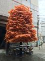guangzhou pkd101120 vermelho grande folha artificial da árvore de bordo