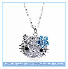 Fashion wholesale Alibaba cute cat design your own pendant necklace