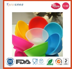 give away printed Eco-friendly food grade silicone bowl