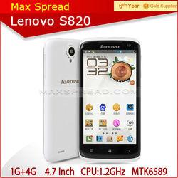 100% original 4.7 inch lenovo s820 smartphone MTK6589 Quad core 1.2GHz Android 4.2 Smartphone Phone 1G RAM 13.0MP lenovo Phone